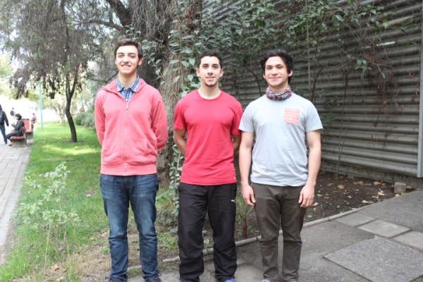 Delegados de Majors: Gonzalo Castro, Sebastián Aedo y Jorge Sanhueza