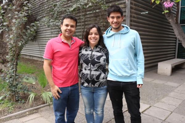 Delegados de Pregrado y Postgrado: Orlando Arroyo, Tamara Cabrera y Patricio Zavala