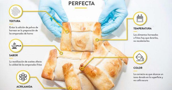 Experto en alimentos analiza mitos de la empanada perfecta