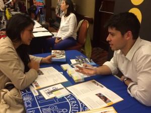 Guillermo Melo, coordinador de Admisión de la Dirección de Postgrado, recibió más de 300 consultas acerca de los programas de postgrado de Ingeniería UC.