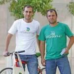 Primos y fundadores de la aplicación AllGreenup, Andrés y Sebastián Luongo.