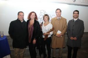 De izquierda a derecha: Emilio Lues, Isolda Soto, Elizabeth Coghlan, Ricardo Garibaldi y Pablo Caro.