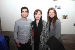 De izquierda a derecha: Tomás Ramírez, presidente CAi 2016, Ana María Bravo, directora ejecutiva Ingeniería UC y Soledad Ferrer, subdirectora de Emprendimiento Social.