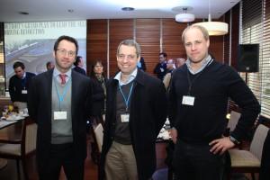 De izquierda a derecha: Claudio Córdova Jara, Álvaro Covarrubias y Fernando Léniz Eguiguren.