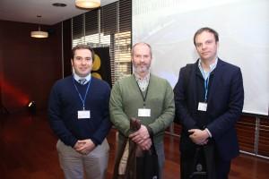 De izquierda a derecha: Nicolás Maino, Luis Córdova Ide y Manuel Bennet.