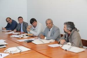 Profesores y autoridades de la Escuela participaron  del encuentro presentando diversos temas tales como el Programa de Doctorado a cargo del profesor Diego Celentano (en la foto).