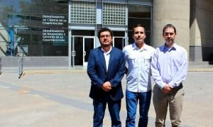 De izquierda a derecha en la foto: Sergio Vera, José Carlos Remesar y Mauricio López, creadores de la tecnología HEAT Concrete.
