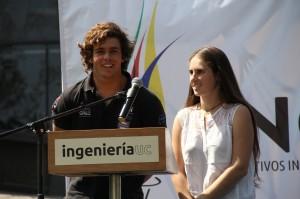 Los deportistas olímpicos y alumnos de Ingeniería UC, Nadja Horwitz y Benjamín Grez, realizaron un simbólico Juramento Olímpico  en la ceremonia de inauguración.