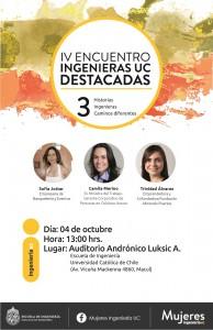 Afiche IV Encuentro Ingenieras UC Destacadas2