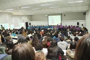 """El lunes 17 de octubre las listas """"Kaizen"""" y """"Prisma"""" (de izquierda a derecha en la foto) realizaron un debate."""