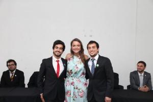 Josefina Calonge junto a Tomás Ramírez, presidente electo del CAi 2016 hasta octubre de 2016 quien dejó el cargo para participar como candidato en las elecciones Feuc de este año. Vicente Lisboa dirigió la directiva en su sucesión.