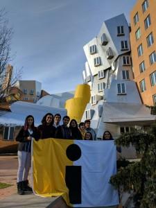 Los alumnos en The Ray and Maria Stata Center o Building 32 de MIT.
