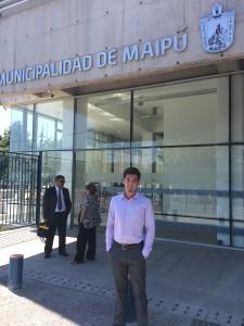 Felipe Guevara realizó su práctica profesional en la Municipalidad de Maipú colaborando en un proyecto para creación de un centro cultural en la comuna.
