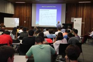 En la actividad, participaron, alumnos y profesores del departamento de Ingeniería de Minería UC.