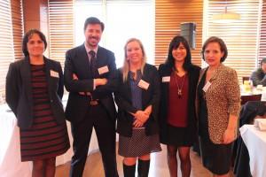 En la foto (de izquierda a derecha): Marcela Torrejón, Rafael Varas, Carla Fuenzalida, Bernardita Salas y Ana María Bravo.
