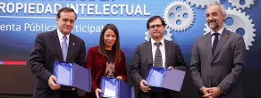Autoridades de la Universidad y de instituciones relacionadas a la propiedad intelectual asistieron a la ceremonia.