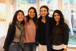Sofía Fuentes, Javiera Rivera, Susana Claro y Valeria Farías.