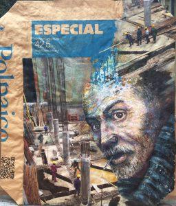 Obras expuestas en galería de arte de la Escuela de Ingeniería en el Complejo Andrónico Luksic Abaroa del Campus San Joaquín