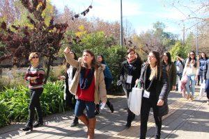 Escuela de Invierno 2018 en tour por Campus San Joaquín