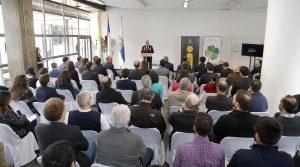 Profesor Nicolás Majluf en ceremonia de inauguración.