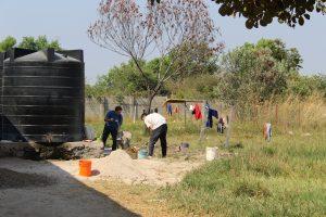Implementación de un canal para el drenaje y flujo del agua
