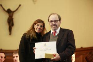 Reconocimiento por 25 años de trayectoria a Gustavo Lagos, Profesor del Departamento de Ingeniería de Minería.