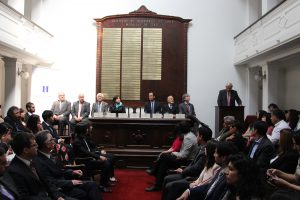 Ceremonia de premiación en Instituto de Ingenieros de Chile
