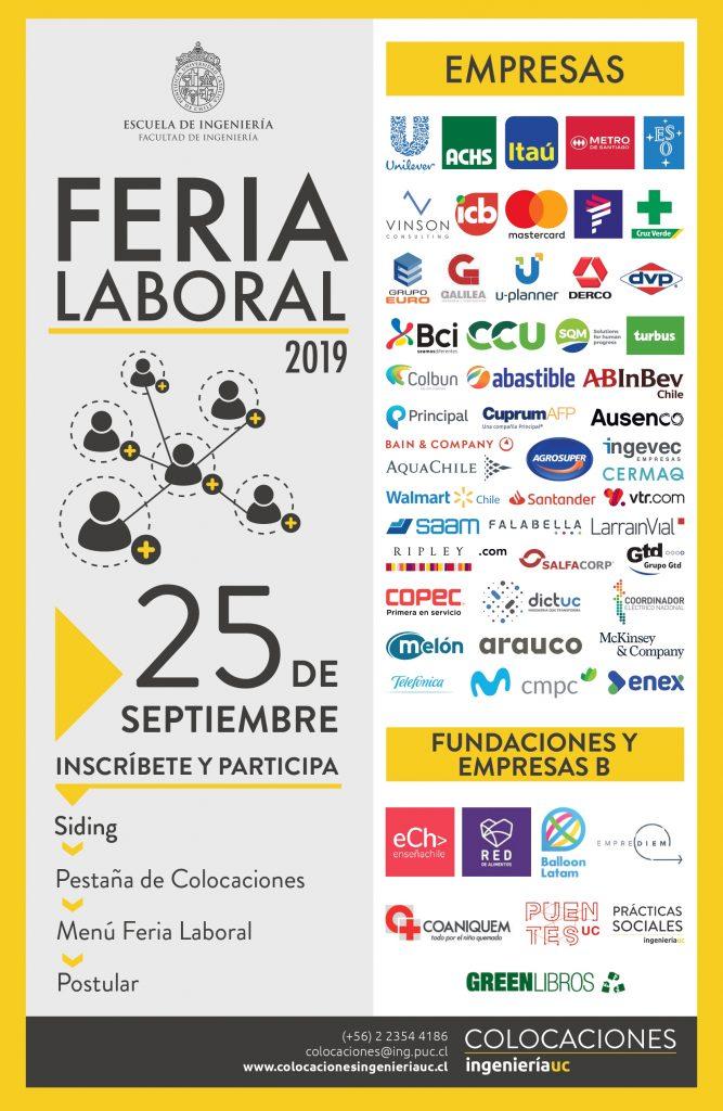 Feria Laboral 2019 Ingenier 237 A Uc